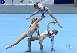 ukrainian gymnasts perform like floor routine