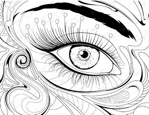coloring page eyeball eye coloring pages