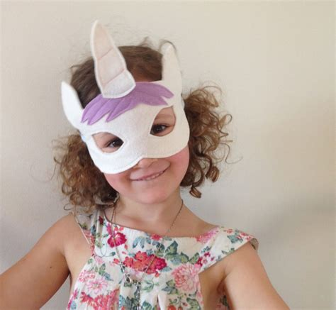 unicorn mask pattern fairytale felt mask patterns now in my etsy store
