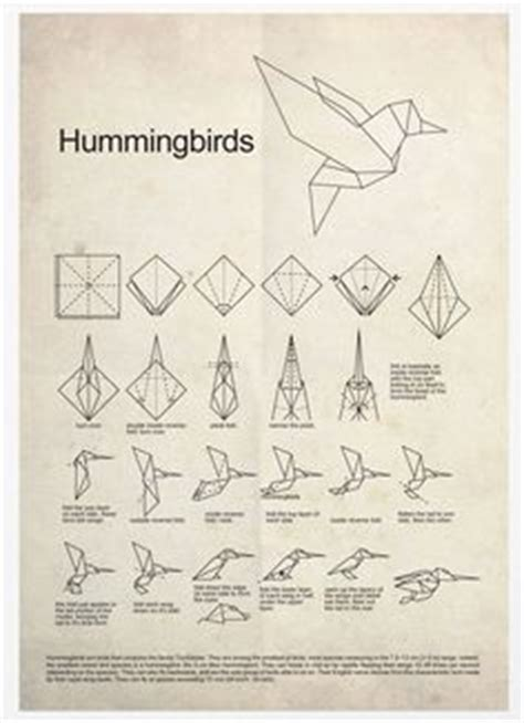 How To Make A Paper Hummingbird - 1000 images about origami tattoos geometrics on