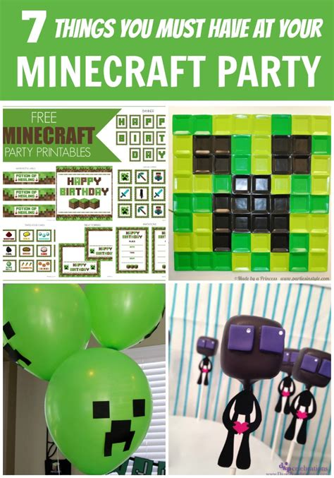 free printable minecraft birthday decorations minecraft party ideas printables quotes