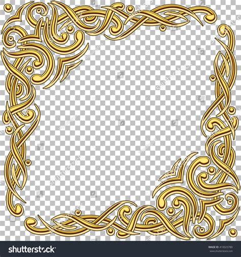 frame design gem gallery vector border golden frame gems oriental stock vector