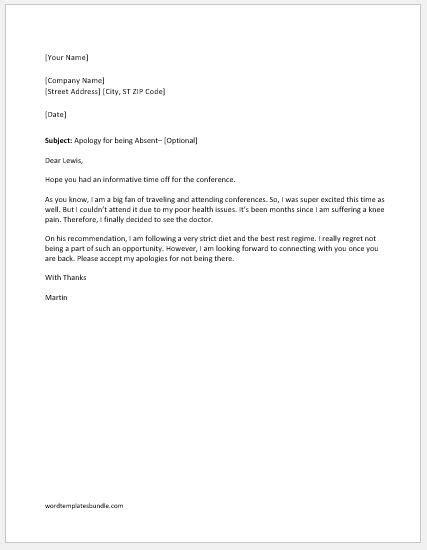 Regret Letter Sle Not Attending Event regret letter gallery cv letter and format