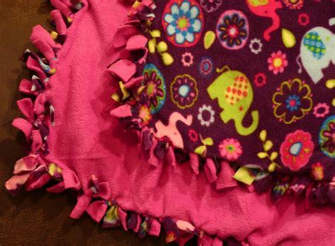 Make Fleece Tie Blanket by 12 Crafts Of Fleece Tie Knot Blanket The Ivey