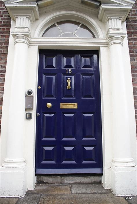 navy front door blue navy door love the brass for the home pinterest