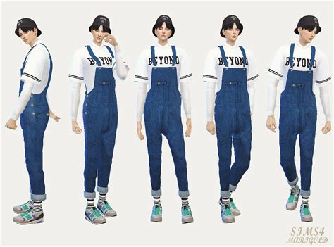sims 4 overall shorts sims 4 cc s the best jeans overalls for males by sims 4
