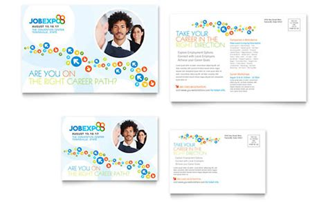 marketing agency postcard templates professional services