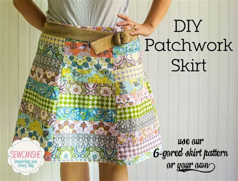 diy patchwork skirt sewcanshe free sewing patterns for