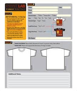 screen print template t shirt order form template 24 free word pdf format