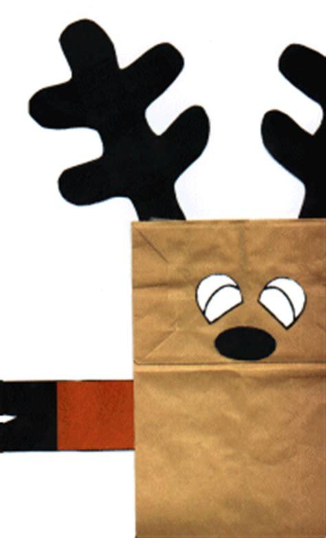 printable reindeer paper bag puppet breezeb s digiworld crafting paper bag puppet reindeer