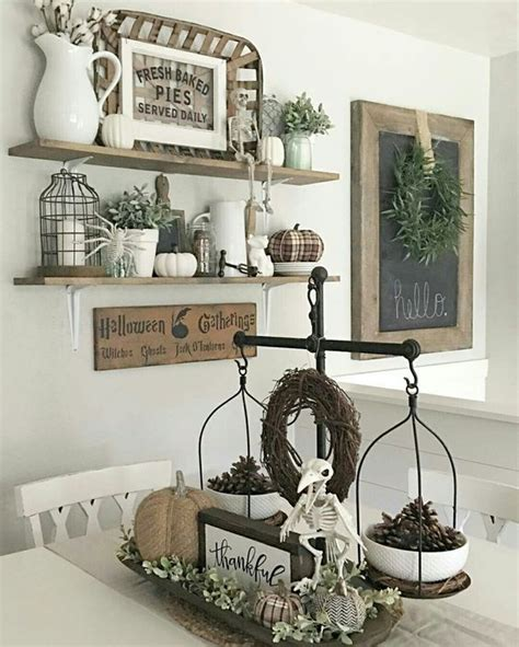 fall dining room antique shelf the nested design company 40 rustic wall decorations for adding warmth to your home