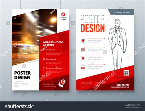 a3 poster layout ideas poster design a3 a2 a1 red stock vector 609095552