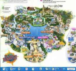 Map Of Universal Orlando by Giz Images Universal Studios Orlando