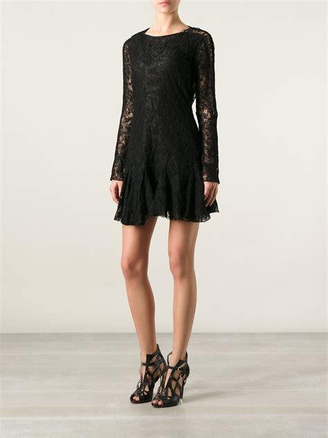Black Florist Magda Lace Dress Bt53 marant magda lace dress in black lyst
