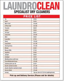 cleaning price list template cleaners quotes like success