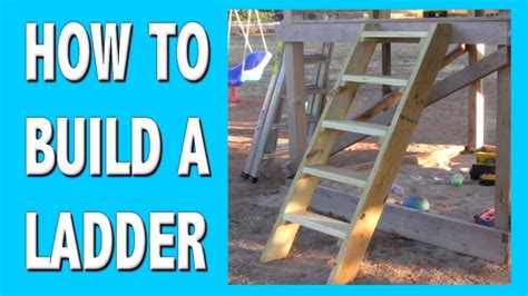 how to build own house how to build a ladder youtube