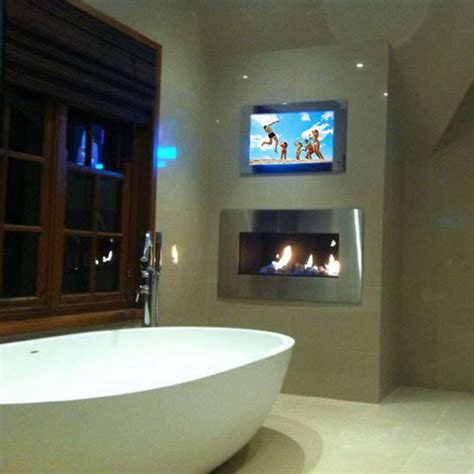 Tv In A Mirror Bathroom The Block Mirror Tv Block All Mirror Tv Bathroom Tv
