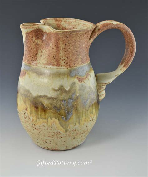Pottery Pitchers Handmade - handmade pottery water milk pitcher 7 5 in southwest