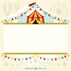 circus tent template design vector free download