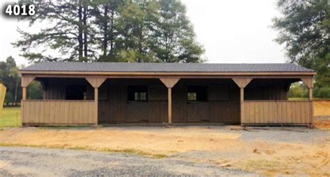 shedrow barn  partially enclosed  overhang
