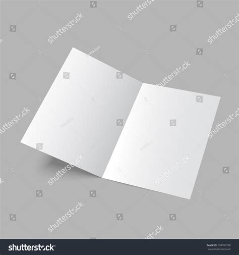 2 fold brochure template lying blank two fold paper brochure on gray background