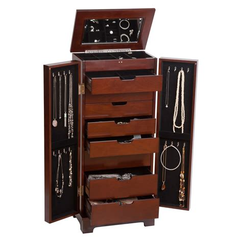 wooden jewelry armoire mele co lynwood wooden jewelry armoire jewelry