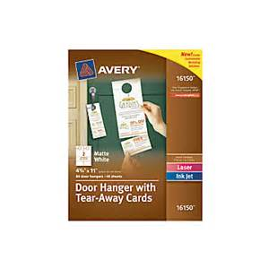 avery door hanger template avery door hangers with tear away cards 2 cards per sheet