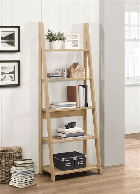 ladder bookcase birlea nordic scandinavian retro ladder bookcase shelving