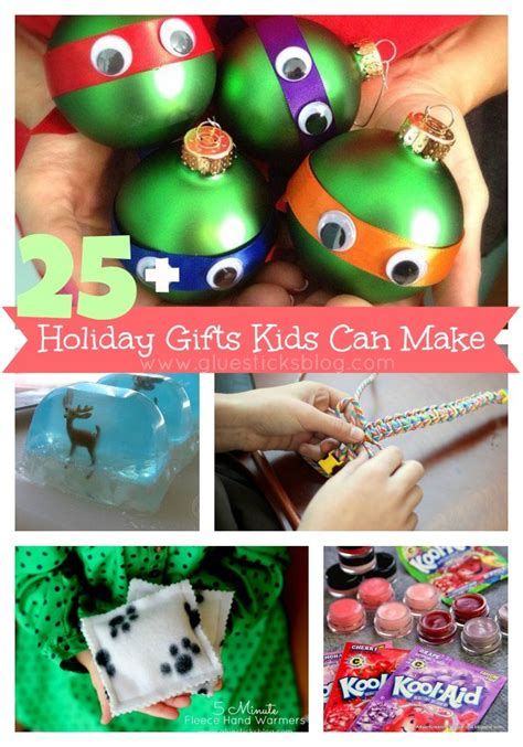 holiday gifts kids can make gluesticks