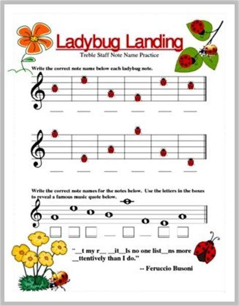 ladybug note name practice (treble clef). pianodiscoveries