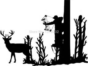 hunting deer tree stand bow gun whitetail car truck window hunting head hunter deer bow arrow car truck window laptop