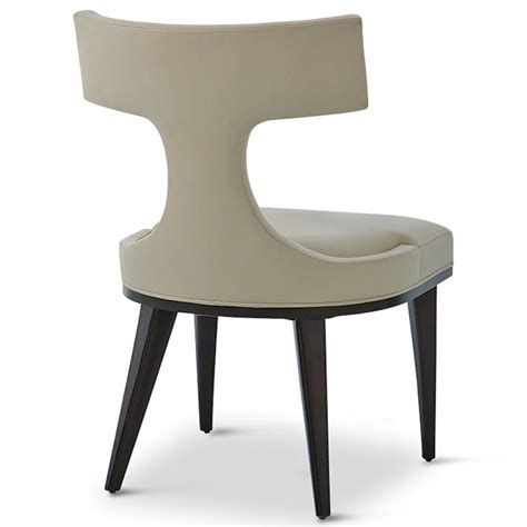 Leather Upholstered Dining Chairs Truman Modern Classic Ivory Leather Upholstered Anvil Dining Chair Kathy Kuo Home