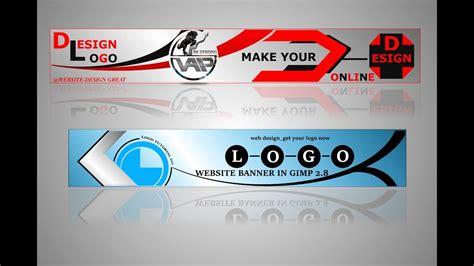 banner design gimp design banner gimp tutorial youtube