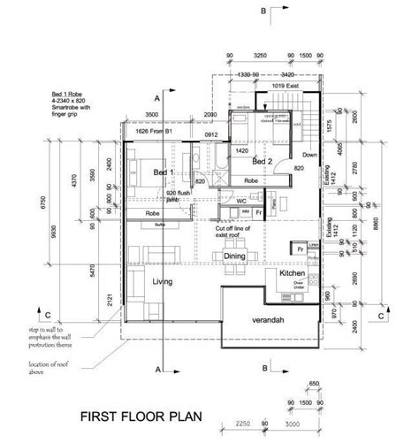 house layout drawing legal requirements documentation