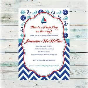 Nautical Boys Baby Shower Invitation Printable Nautical Baby Shower Invitation Baby Boy Shower