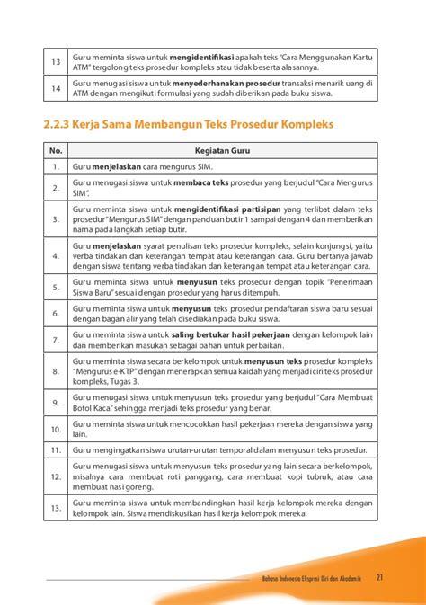 teks prosedur membuat roti bakar dalam bahasa inggris 10 bahasa indonesia buku guru
