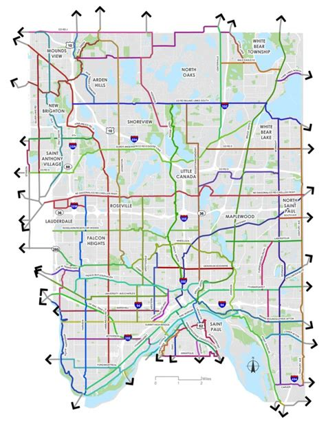 ramsey county half section maps ramsey county board adopts countywide bike plan lillie