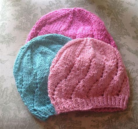 knitted hat pattern dk yarn meadowsweet baby hat sizes newborn to 18 mos yarn dk