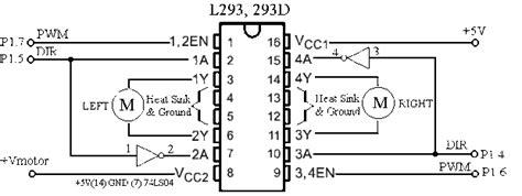 pin diagram of l293d l293d ne motor driver pin diagram espa 241 ol