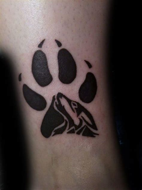 50 wolf paw tattoo designs f 252 r m 228 nner tier ink ideen