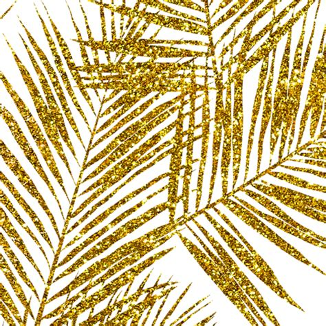 gold wallpaper with trees gold glitter palm leaves white large silhuettes faux