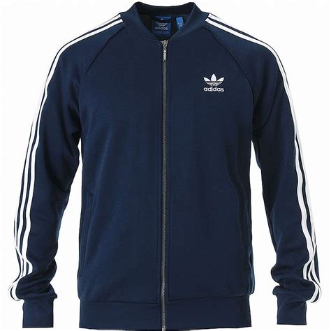 Adidas Blue White Navy Panel Zip Windbreaker Jacket adidas superstar track top jacket navy white hip hop
