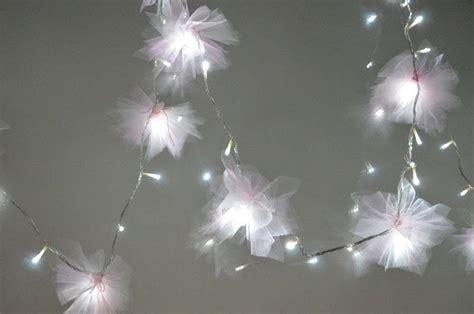 diy tulle flower fairy lights    fairy lights home diy  cut