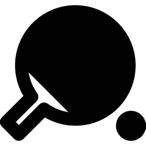Bat Bola Pingpong table tennis racket and ping pong icons free