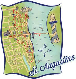 st augustine florida attractions map your source for outdoor hiking adventures