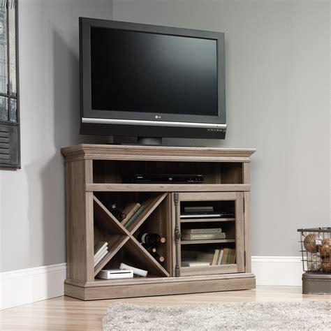 sauder  corner tv stand  furniture