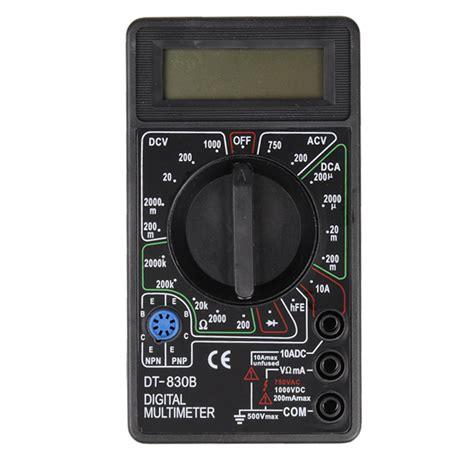 Multimeter Digital Dt830b dt830b ac dc digital multimeter for ammeter voltmeter resistance alex nld