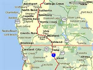 southern oregon northern california map