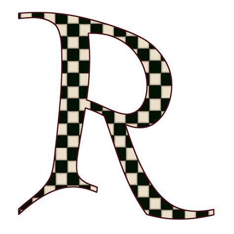 Letter R Images enchanted s quot black checks quot free digital