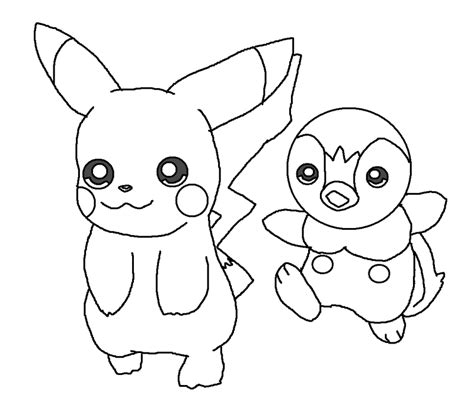 pokemon coloring pages of piplup pokemon piplup coloring pages images pokemon images